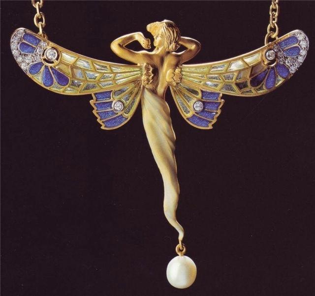 Эльфы в ювелирных украшениях ар-нуво - 6