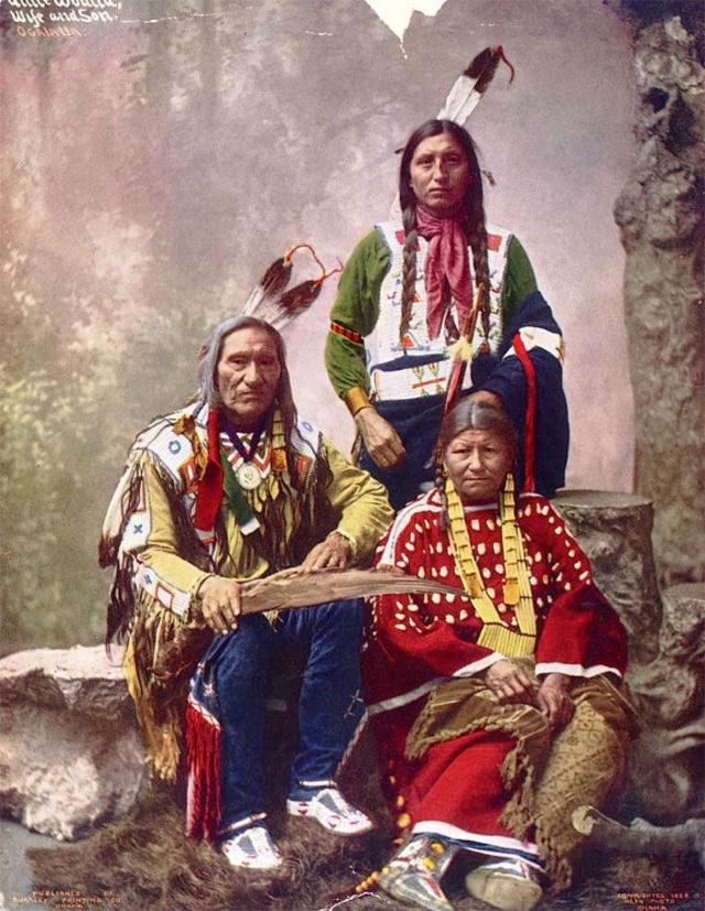 Фото: Старые разукрашенные снимки индейцев конца ХIХ - начала ХХ века (Фото)