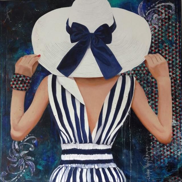 Полосатое платье. Автор: Christine Thery Demore.