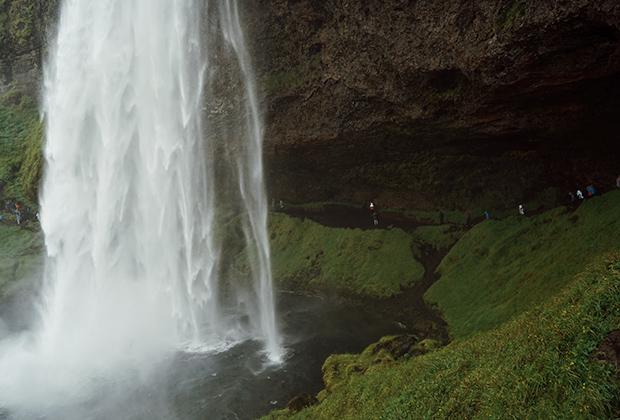 Водопад Сельяландсфосс, Исландия, Южный регион