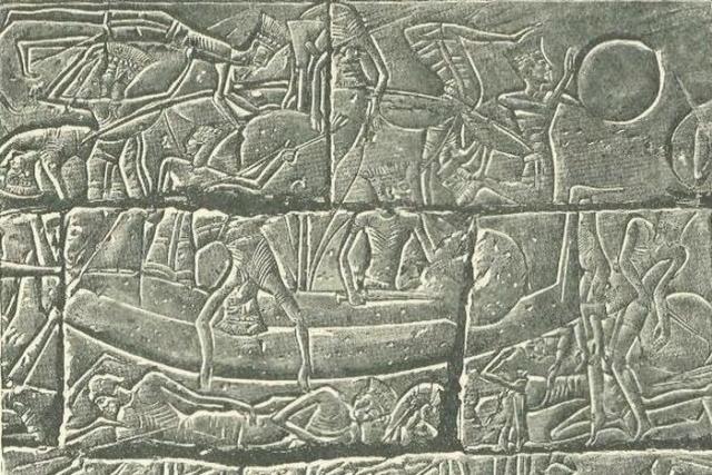 Изображения филистимлян в египетских храмах.