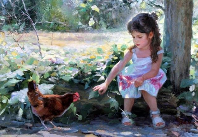 «Проходит детства дивная пора, дни озорные в прошлое уносит!» Солнечная живопись от Владимира Волегова.