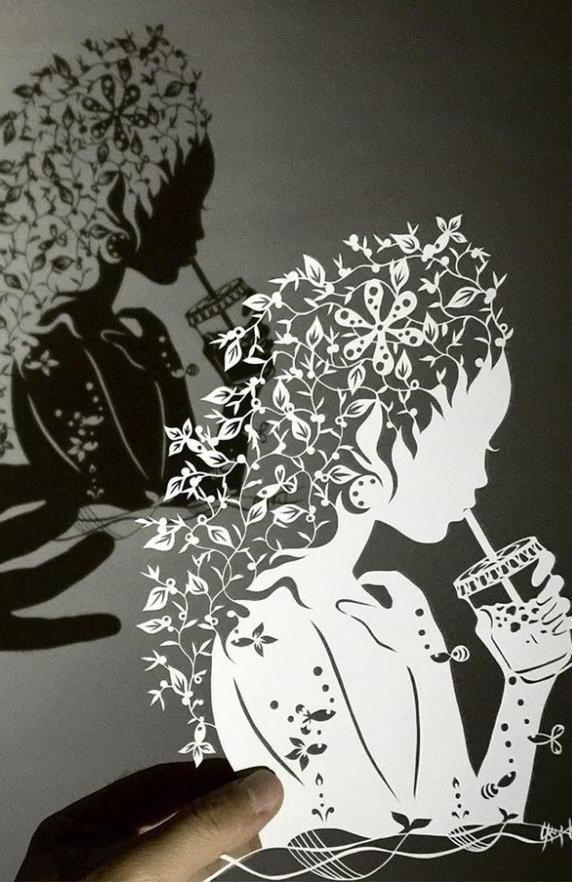 Художник из Японии, известный в Интернете под ником «Мистер Риу», создает узоры из бумаги ... - 4