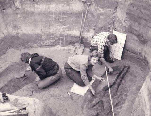 Маргарете на раскопках. / Фото: www.aerenlund.dk
