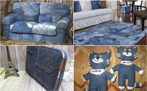 Фото: Старые джинсы как отличное решение для декора в доме (Фото)