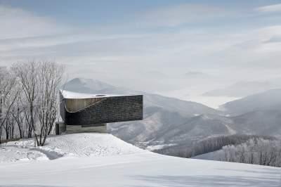 Необычная смотровая площадка в горах Китая. Фото