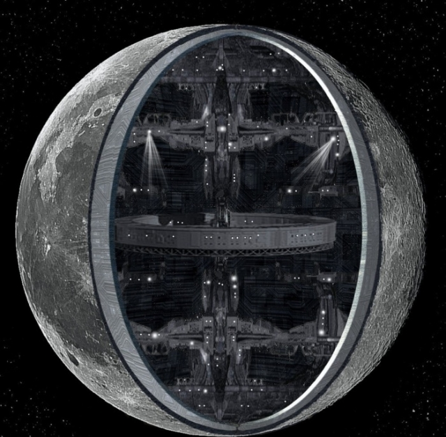 Луна - искусственный объект?