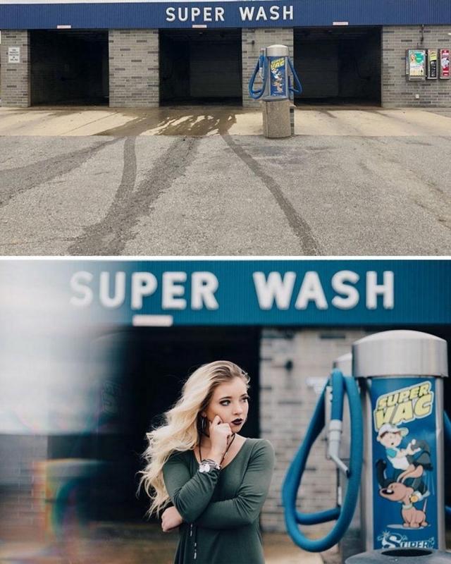 Фото: Девушка делает красивые профессиональные снимки в самых неожиданных местах (Фото)