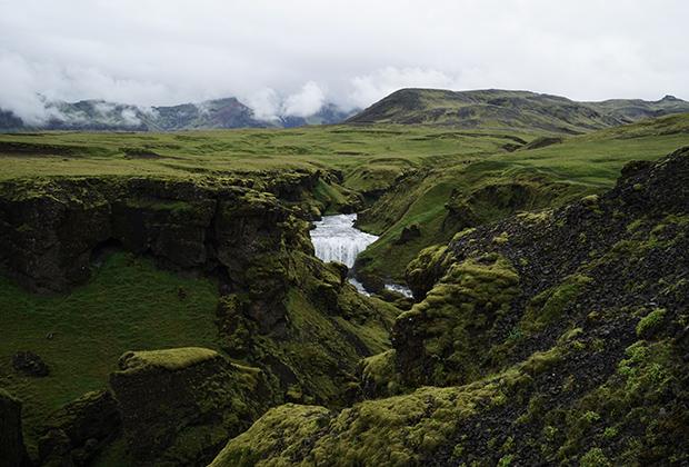 Водопад Скогафосс, Исландия, Южный регион