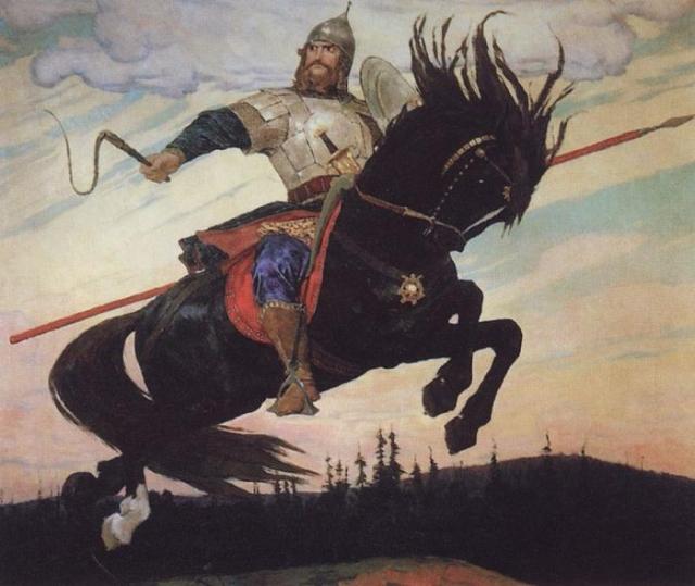 «Богатырский скок». Виктор Васнецов. 1914.