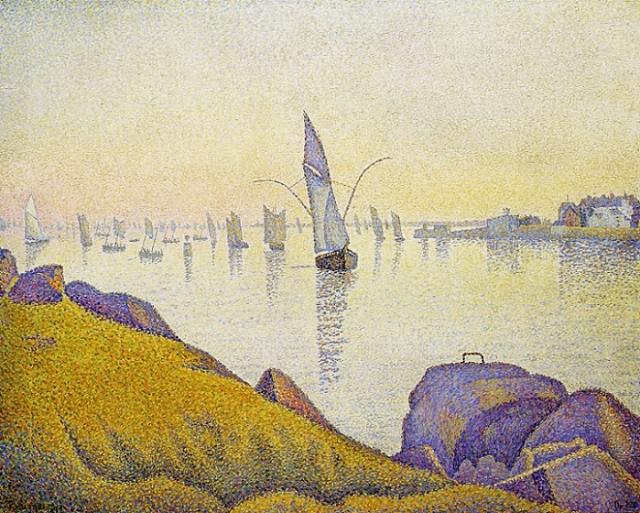 Конкарно. Вечерний покой, 1891. Автор: Поль Синьяк.