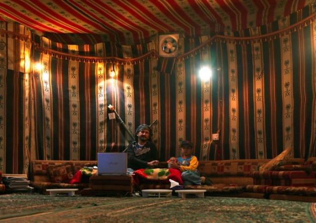 Одна из комнат дома, которую владелец дома превратил в шатер.
