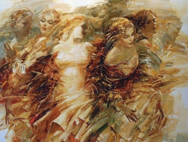 ЖЕНСКАЯ ДУША.Бог его знает, что там намешано,В нашей загадочной женской душе.Нитью искристою соткана ... - 9