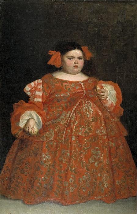 «Карлица Еухения Мартинес Вальехо одетая».(1680). Автор: Хуан Кареньо де Миранда.