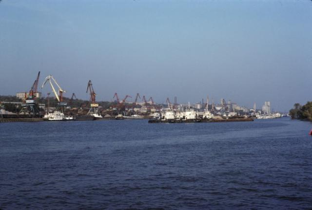 Ростовский морской торговый порт. СССР, Ростовская область, 1975 год.