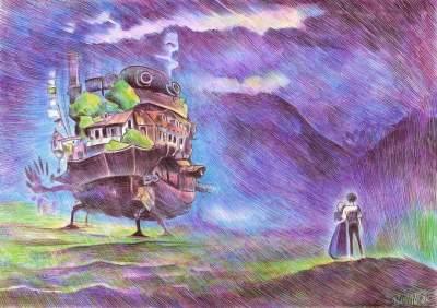 Художник шариковой ручкой создает необычные пейзажи. Фото