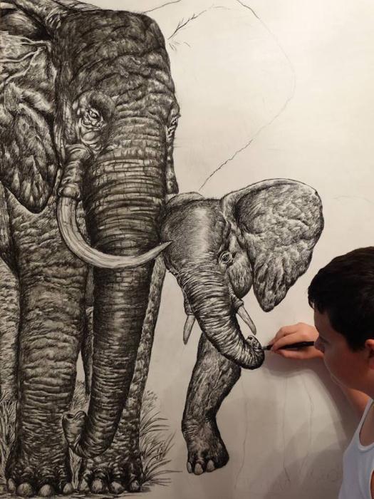 Dusan Ktorlica и его рисунки.