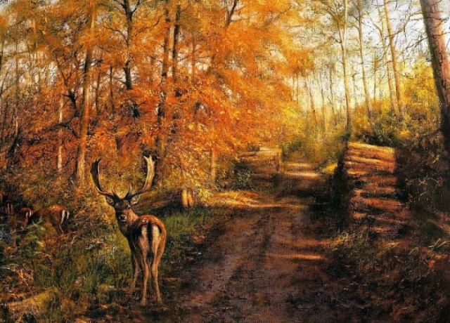 животные в живописи Rien Poortvliet - 07