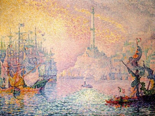 Порт Генуя, 1909. Автор: Поль Синьяк.