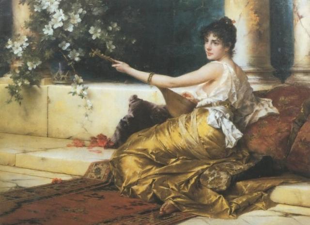 женский портрет Conrad Kiesel - 01