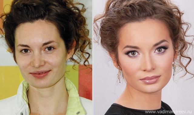 Фото: Впечатляющие преображения внешности с помощью макияжа (Фото)