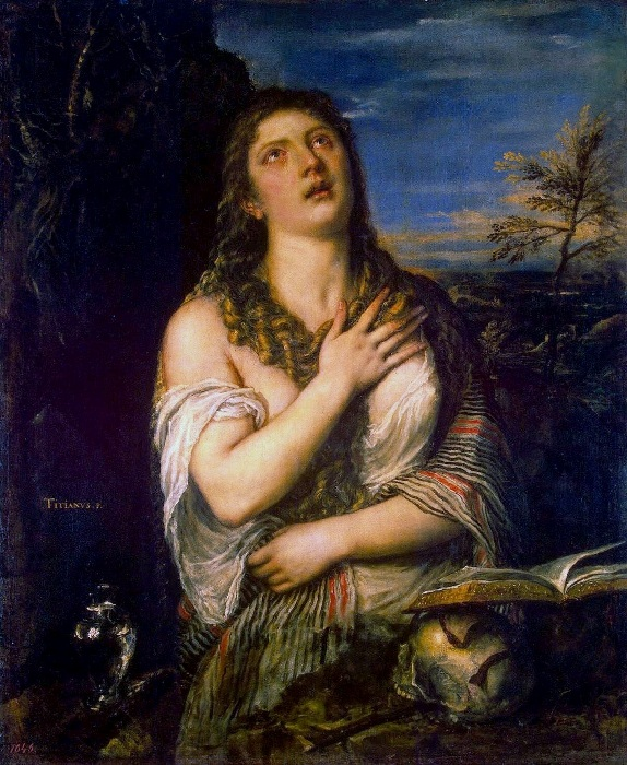 Кающаяся Мария Магдалина. Эрмитаж. Автор: Тициан Вечеллио.