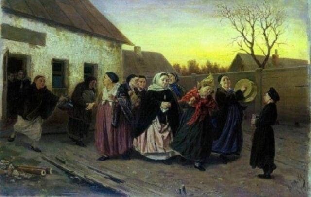 Картина русского живописца Василия Перова раскрывает то, как  жили люди в XIX веке.