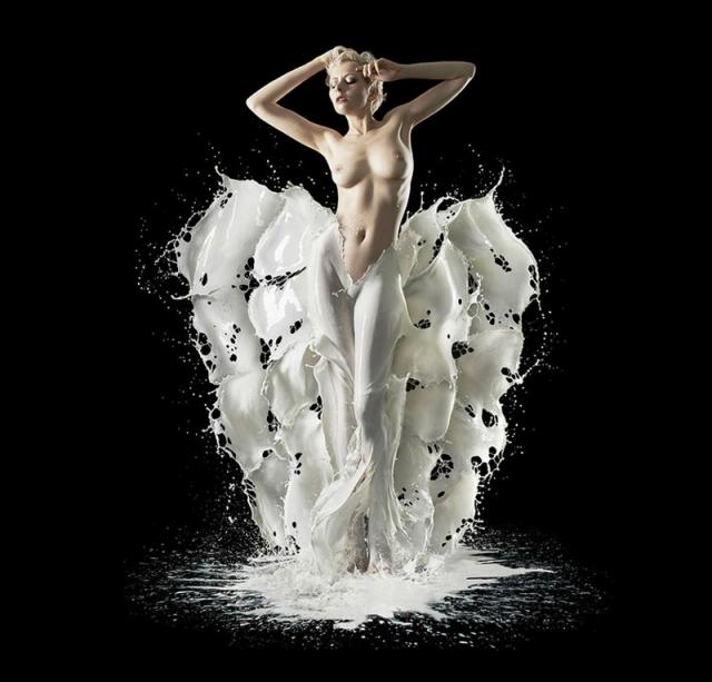 Фотограф Визоркевич, молоко и вода креатив, фотографии