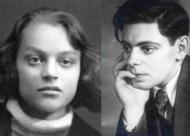 Аркадий Райкин и Руфь Иоффе в юности. / Фото: www.jpe.ru