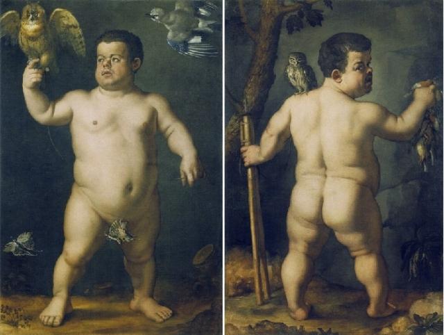 «Двойной портрет карлика Морганте». Автор: Аньоло ди Козимо (Бронзино).