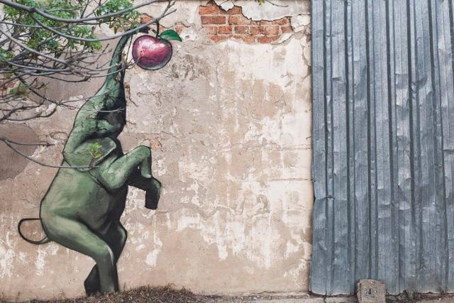 """Результат пошуку зображень за запитом """"Парень рисует слонов на стенах в Южной Африке (11 работ)"""""""