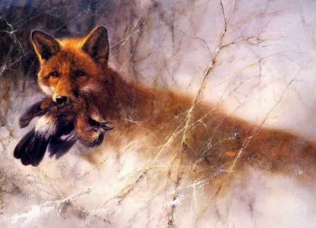животные в живописи Rien Poortvliet - 08