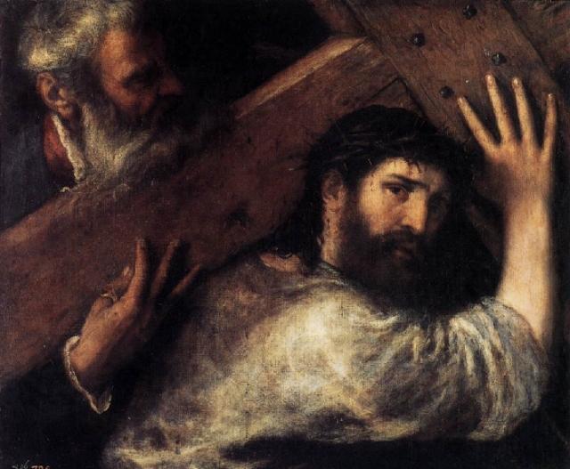 «Вознесение креста». (Эрмитаж). Автор: Тициан Вечеллио.