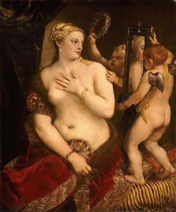 Венера перед зеркалом. (около 1555 г.) Автор: Тициан Вечеллио.