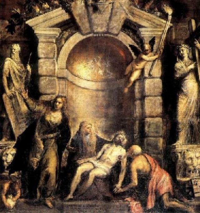 «Оплакивание Христа». Автор: Тициан Вечеллио.