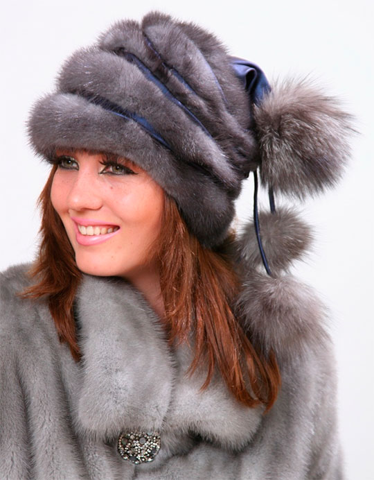 Стильные женские шапки сезона 2017 фото, норка, песец, лиса