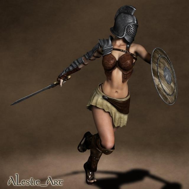 Любопытные факты о женщинах-гладиаторах
