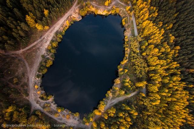 Карьер в Челябинске. дрон, красота, мир, пейзаж
