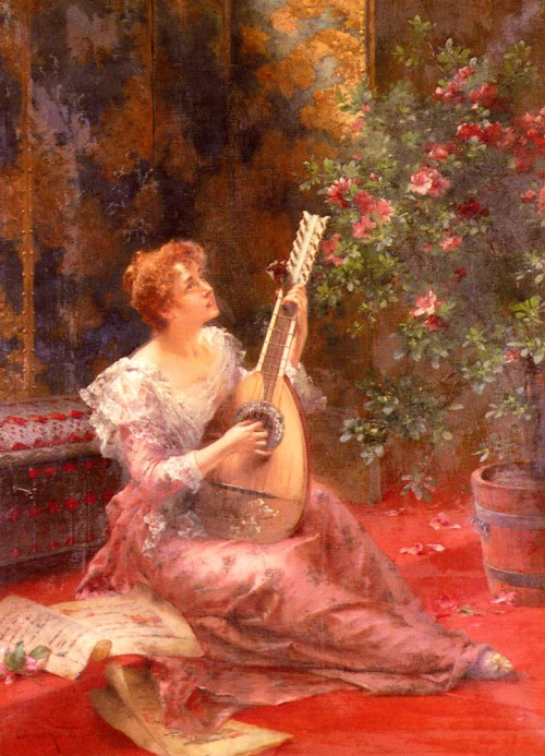 женский портрет Conrad Kiesel - 03