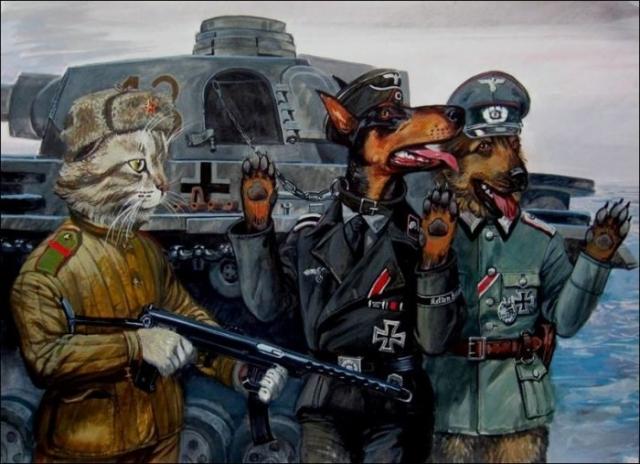 Враг взят под стражу. Автор: Александр Завалий.