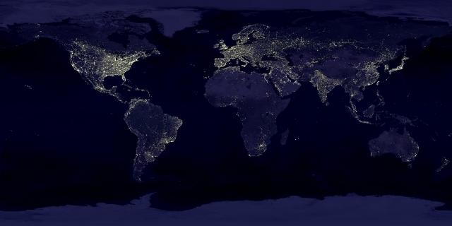 Картинки по запросу фото ночной земли из космоса