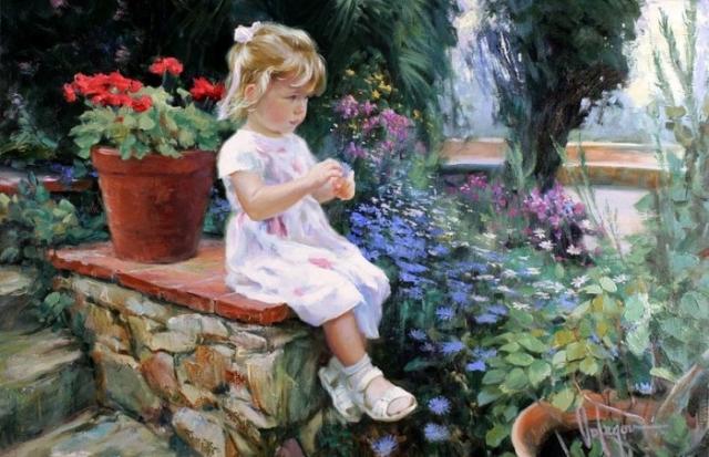 «Дети берутся из маминых сказок, из карандашей, перламутровых красок...» Солнечная живопись от Владимира Волегова.