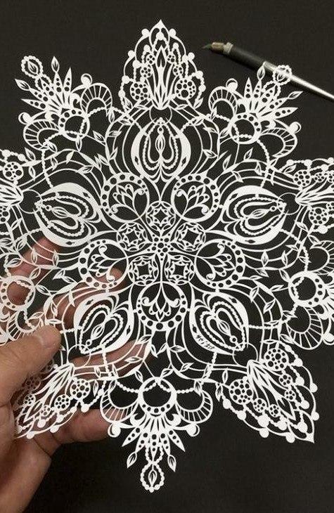 Художник из Японии, известный в Интернете под ником «Мистер Риу», создает узоры из бумаги ... - 6