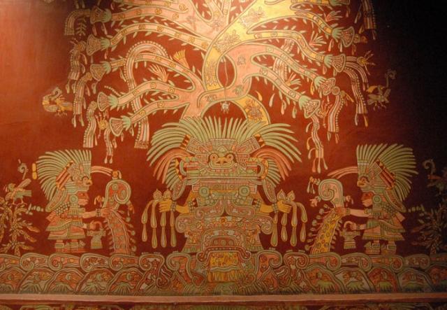 «Великая богиня Теотиуакана» (настенная роспись)