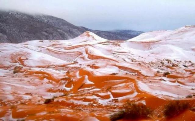 У Сахарі вперше за майже 40 років випав сніг
