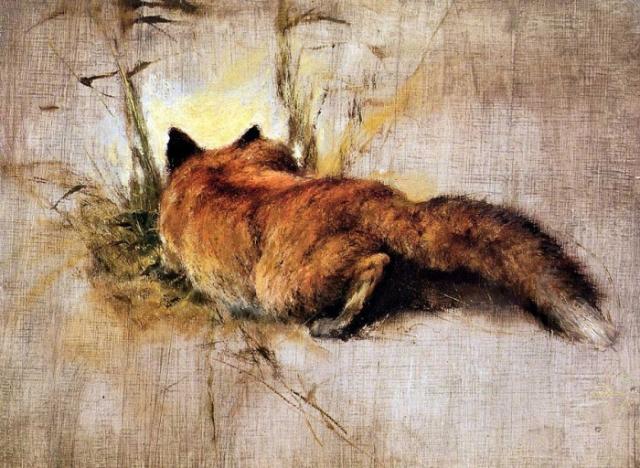 животные в живописи Rien Poortvliet - 12