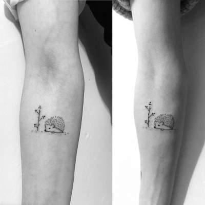 Креативные варианты парных татуировок для братьев и сестер. Фото