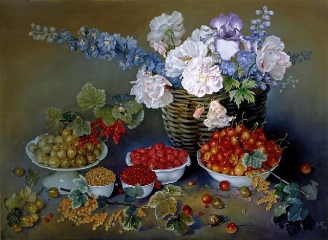Фото: Цветочные натюрморты от талантливого испанского художника (Фото)