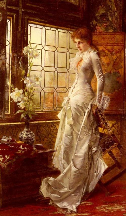 женский портрет Conrad Kiesel - 12