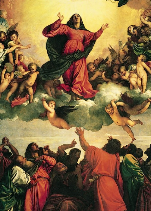 Вознесение Девы Марии.(1518). Автор: Тициан Вечеллио.